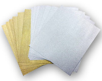 Simply Defined Vintage Glam Adhesive Sheets - Gold & Silver 12 Pk