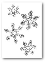 Memory Box Poppystamps Dies - Stitched Snowflake Cutouts