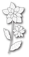 Memory Box Poppystamps Dies - Poinsettia Stem