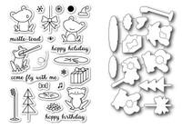 Memory Box Open Studio Stamps & Dies - Hoppy Holiday Die Set