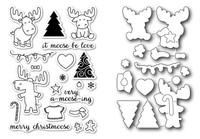 Memory Box Open Studio Stamps & Dies - Moose Crossing Die Set