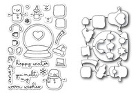 Memory Box Poppystamps Stamps & Dies - You Melt My Heart Die Set
