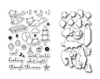 Memory Box Poppystamps Stamps & Dies - Foxy Holiday Die Set