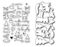 Memory Box Poppystamps Stamps & Dies - Holiday Hoopla Die Set