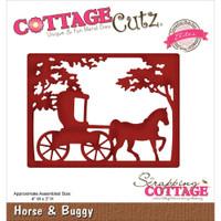 CottageCutz Elites Die -  Horse & Buggy