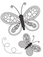 KaiserCraft Mini Clear Stamps - Butterflies