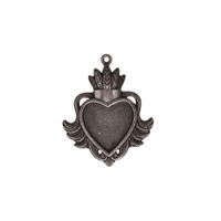 Spellbinders A Gilded Life - Heart Bezel - Large - Silver
