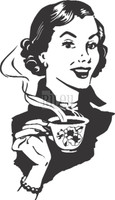 Funny Bones Cling Stamps - Coffee Lady