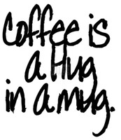 Funny Bones Cling Stamps - coffee is a hug