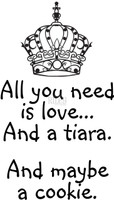 Funny Bones Cling Stamps - All you need I a Tiara