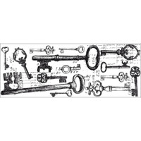 KaiserCraft Clear Stamp Texture - Keys