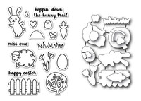 Memory Box Poppystamps Stamps & Dies Bundle  - Easter Excitement