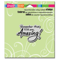 Stampendous Cling Rubber  Stamps - You Are Amazing
