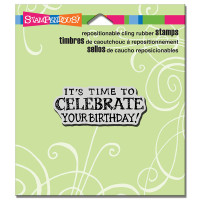 Stampendous Cling Rubber  Stamps - Celebrate Birthday