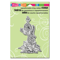 Stampendous Cling Rubber  Stamps - Garden Hive