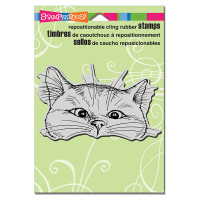 Stampendous Cling Rubber  Stamps - Nosy Cat