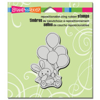Stampendous Cling Rubber  Stamps - Balloon Bunny