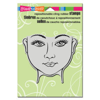 Stampendous Cling Rubber  Stamps - Beauty Face