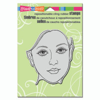 Stampendous Cling Rubber  Stamps - Feminine Face
