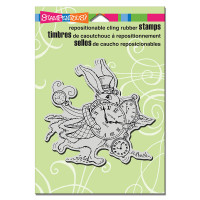 Stampendous Cling Rubber  Stamps - Hare In A Hurry