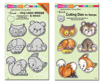 Stampendous Cling Stamps and Dies Bundle - Woodland Friends