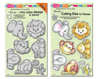 Stampendous Cling Stamps and Dies Bundle - Jungle Friends