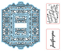 Simply Refined Dies & Stamps - Endearments, Victorian Romance Frame