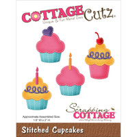 CottageCutz Die - Stitched Cupcakes