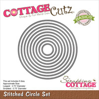 CottageCutz Die - Stitched Circle