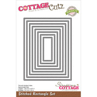CottageCutz Die - Stitched Rectangle