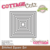CottageCutz Die - Stitched Square