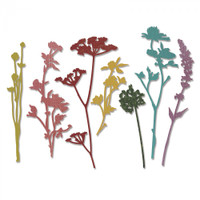 Sizzix Thinlits Die Set 7PK - Wildflowers by Tim Holtz