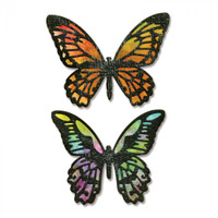 Sizzix Thinlits Die Set 4PK - Detailed Butterflies by Tim Holtz