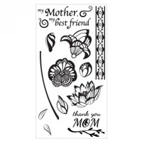 Sizzix Clear Stamps by Lindsey Serata - Mom