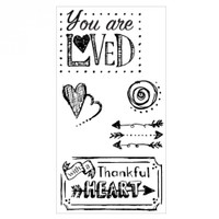 Sizzix Clear Stamps by Lindsey Serata - You Are Loved