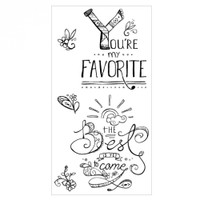 Sizzix Clear Stamps by Katelyn Lizardi - You're My Favorite