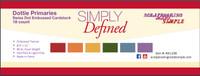Simply Defined Dottie - Primaries 18pk