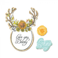 Sizzix Framelits Dies with Stamps by Jen Long - Sweet Deer