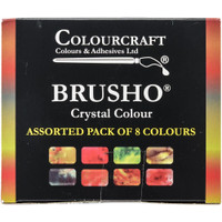 Brusho Crystal Colours Set 8/Pkg