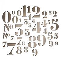 Sizzix Thinlits Die Set 38PK - Stencil Numbers by Tim Holtz