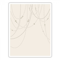 Sizzix Textured Impressions Embossing Folder by Tim Holtz - Beaded Garland