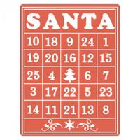 Sizzix Textured Impressions Embossing Folder by Rachael Bright - Santa Bingo Card