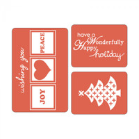Sizzix Textured Impressions Embossing Folder by Rachael Bright - Happy Holidays Set