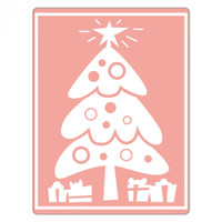 Sizzix Textured Impressions Embossing Folder by Stu Kilgour - Tree, Christmas & Gifts