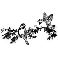 Stamperia High Definition Rubber Stamp - Birds