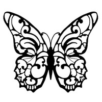 Stamperia High Definition Rubber Stamp - Butterfly