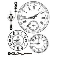 Stamperia High Definition Rubber Stamp - Clocks