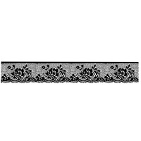 Stamperia High Definition Rubber Stamp - Lace with Rose