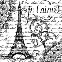 Stamperia High Definition Rubber Stamp - Paris Je T'Aime