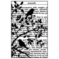 Stamperia High Definition Rubber Stamp - Tiny Birds on Tree